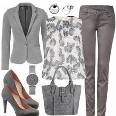 Mrsgray outfit - business outfits bei f mrsgray damen outfit - komplettes busine Summer Business Casual Outfits, Spring Work Outfits, Spring Outfits Women, Business Outfits, Winter Outfits, Cute Professional Outfits, Business Professional Attire, Professional Wardrobe, Outfits Damen