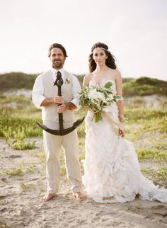 Oceanside wedding inspiration: http://www.stylemepretty.com/little-black-book-blog/2014/09/03/shipwrecked-seaside-wedding-inspiration/ | Photography: Archetype - http://archetypestudioinc.com/