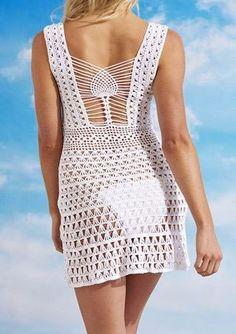 Clementine Crochet Dress by Beauty & the Beach Swimwear. Beach cover up or crochet dress to wear out. Crochet Swimwear, Crochet Bikinis, Cover-ups, Jewelry. Crochet Beach Dress, Bikinis Crochet, Crochet Skirts, Crochet Clothes, Crochet Lace, Knit Dress, Mode Crochet, Sexy Summer Dresses, Crochet Woman