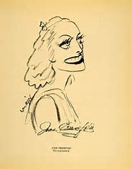Image result for joan crawford caricatures