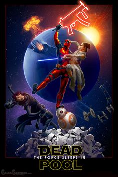 Deadpool vs Star Wars by  Adam Hastings