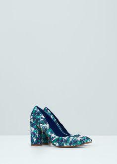 Zapato salón estampado - Zapatos de Mujer | MANGO México