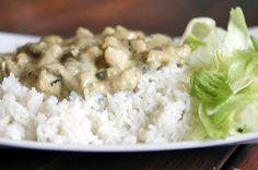 Rijst met zelfgemaakte kippenragout