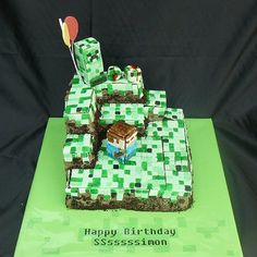 Minecraft Cake- pinned this for you Ry ;-)