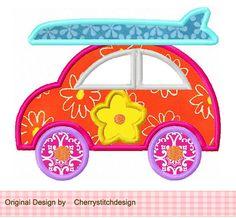 Été voiture numérique appliques  5 x 7 6 x par CherryStitchDesign