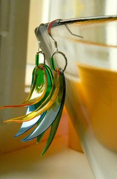 plastic earrings from recycled milk bottles the links these earrings are made from plastic milk jug i like the