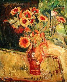 Flower Piece (oil on canvas), Soutine, Chaim (1894-1943)