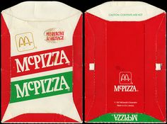 McDonald's - McPizza box - Pepperoni & Sausage - test market release - 1987
