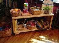 Great Montessori lesson storage station.