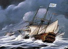 Early in 1565, France's King Charles sent Jean Ribault to lead a powerful fleet consisting of a 32-gun flagship, Trinité;, a 29-gun royal galleon Emérillon, and five other war, supply, and dispatch ships. Ribault was to assume command of Fort Caroline (near Florida's St. Augustine), but a Spanish expedition forced Ribault to sail south and the entire fleet was destroyed by a hurricane.