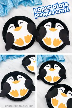 Paper Plate Penguin Craft Wintertime is the perfect time for crafting with the kids! Of course, we think any time is great for crafting, but winter is especially good. Kids arent able to play outside as much and theyre Winter Activities For Kids, Winter Crafts For Kids, Easy Crafts For Kids, Cute Crafts, Toddler Crafts, Art For Kids, Indoor Activities, Winter Fun, Classroom Crafts