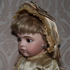 French Bisque Bru Jne 6 Doll with Chevrot Body from joan-lynetteantiquedolls on Ruby Lane
