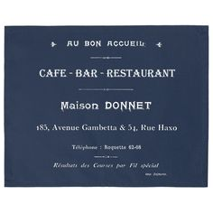 Set of 2 table mats - Cafe Bar - French Home