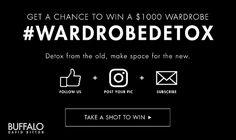 Contest: Win $1000 Wardrobe Form Buffalo Jeans ( US & CA ) Contest, free gift card, wardrobe detox, win $1000 wardrobe, Buffalo David Bitton