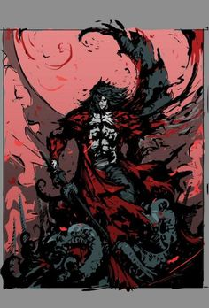 Dracula Poster Concept Art - Castlevania: Lords of Shadow 2 Art Gallery Castlevania Dracula, Castlevania Lord Of Shadow, Arte Horror, Horror Art, Manga Anime, Anime Art, Character Art, Character Design, Lord Of Shadows