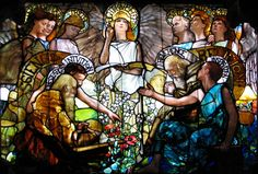 Louis Comfort Tiffany remains the American artist most closely identified with the Art Nouveau movement. In addition to stained glass and. Tiffany Stained Glass, Tiffany Glass, Stained Glass Art, Stained Glass Windows, Tiffany Art, Leaded Glass, Louis Comfort Tiffany, Alphonse Mucha, Art Nouveau