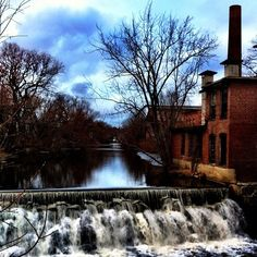 Downtown Haverhill and the Merrimack River I used to ride my bike past this spot on my way home from my cousin's house.