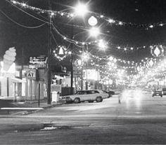 Downtown Highland Indiana.  Christmas time.