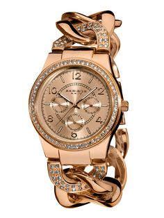 Akribos XXIV Women's Rose Gold & Crystal Watch at Gilt saved by #ShoppingIS