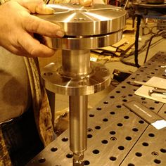 Custom Specced in and fabricated this all Stainless Probe Tube assembly at a Pharma plant.