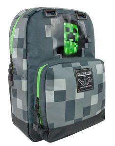 Minecraft Creepy Creeper ryggsäck (grå) - Carry your laptop and items of daily use inside this comfortable Minecraft-themed backpack with Creeper design. The backpack has reinforced bottom, padded back, laptop sleeve on the inside, extra zipped compartmen Minecraft Room, Minecraft Stuff, Minecraft Buildings, Grey Backpacks, Kids Backpacks, School Bags For Kids, Kids Bags, Dibujo, Oktoberfest