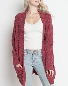 dreamers - popcorn yarn oversized cardigan - more colors