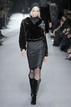 Tom Ford RTW Fall 2014 -OMG! Velvet western influence boots...LUUUURVE