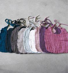 hand dyed cotton gauze baby bibs