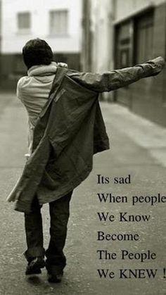 How sad it is...