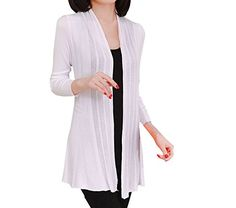 2c386dc953bc5 Shawhuaa Womens knitted Slim Fit Open Front Cardigan Sweater Shawl Black at  Amazon Women's Clothing store: