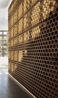 Architectural Materials // Design Detail – A Wall Made Of Tubes Shigeru Ban Architects, Photo Michael Moran