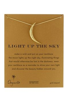 crescent moon necklace — pretty gift idea