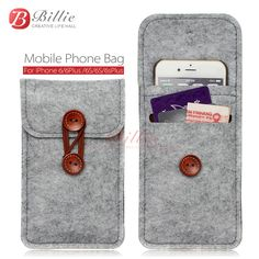 phone bag For iPhone 6 Plus 5.5 inch case For iPhone 6 4.7 inch bags mobile phone bags cases Case Cover Wool Felt Wallet