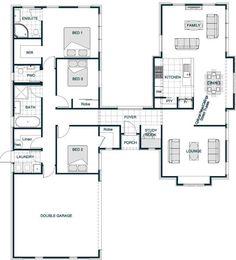 your series stonewood statics Pavillion 190 4 Bedroom House Plans, Bungalow House Plans, Dream House Plans, House Floor Plans, U Shaped House Plans, U Shaped Houses, Simple Floor Plans, Home Design Floor Plans, Model House Plan