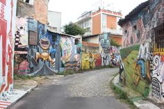Beco do Batman at Vila Madalena