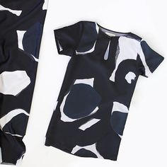 @kuwaii. can't forget this colour way in the flora tee dress!  love a bit of black white  navy. shop the micro print in store  online link in profile. by alwaysshopgirl
