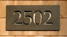 Luce House Numbers - Sara Wise Design | Sara Wise Design