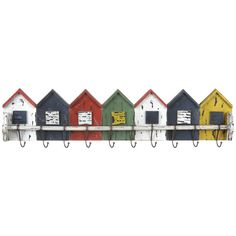 Beach huts wall rack