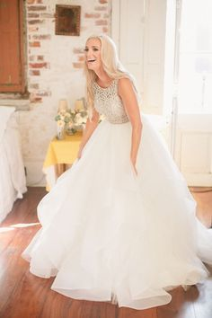 """Lindsay and Marty's New Orleans Wedding / The """"Dori"""" gown by Hayley Paige"""