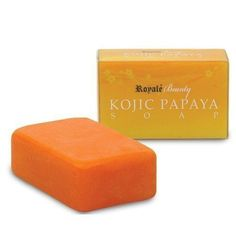Royale Kojic papaya skin whitening soap which renders your skin blemish free, whiter, fairer younger looking in no time. Royale Kojic Papaya skin whitening soap is one of the most popular soaps that magic potions offers. It is a combination of Pure Kojic Acid and Papain, both of which are very effective skin lighteners. It also prohibits the formation of melanin, removes pimples, dark spots, blemishes, freckles, acne scars while nourishing, mildly exfoliating and rejuvenating the skin. Skin Whitening Soap, How To Remove Pimples, Kojic Acid, Papaya Soap, Palm Oil, Face And Body, Soaps, India, Indie