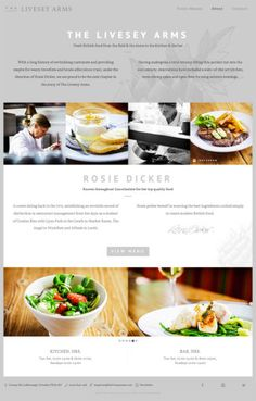 The Livesey Arms #webdesign #minimalist