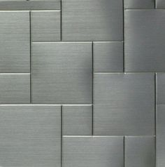 Stainless steel backsplash- patterned mosaic metal tiles