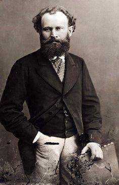 """""""Édouard Manet"""".  Pintor Artista Gráfico francês. (Paris, 23/Janeiro/1832 - Paris, 30/Abril/1883). (by Felix Nadar)."""