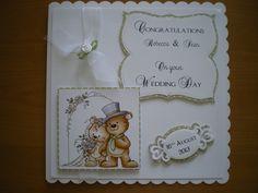 Handmade Wedding Day Card using Hobby House topper