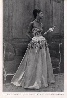 Jacques Fath 1947 Evening Dress Fashion Photography Evening Gown