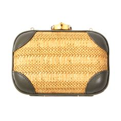 Gucci Wicker Clutch With Strap | From a collection of rare vintage handbags and purses at http://www.1stdibs.com/fashion/accessories/handbags-purses/