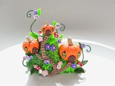 Pumpkin fairy village by Fizzy