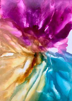 Alcohol ink art. Bloom V