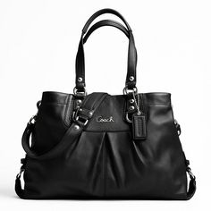 COACH Ashley Leather Carryall (Silver/Black), was $398, now $179...looks like it would be a great bday present for me...:)