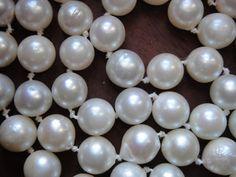 Akoya Salzwasser-Perle 7,1 - 7,5 mm Strang ohne Schließe 58 cm weiß glänzend